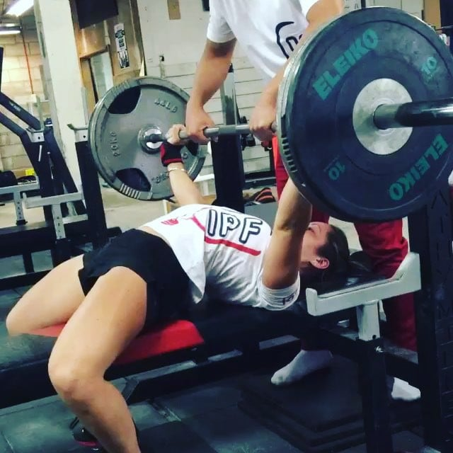 GetStrengths Bench expert @carli_dillen making one of her 5 doubles at 80kg look smooth as butter