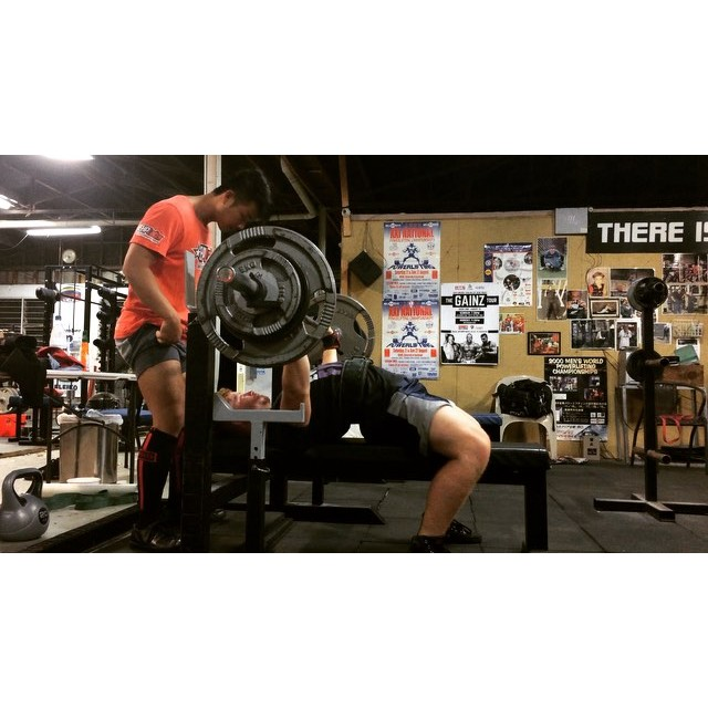 @edsheeranpowerlifter with a very comfortable bench press PR of 101x2. Ed will be playing a gig tomorrow at the Getstrength Inhouse comp as a fundraiser for our team going to Worlds this year. He'll be performing hits such as Lego House and The A Team so if you've got nothing better to do, come have a sing along and watch some good lifting