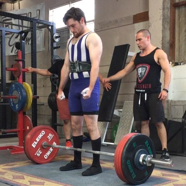 Hamish Ramsay cracking the 200kg milestone