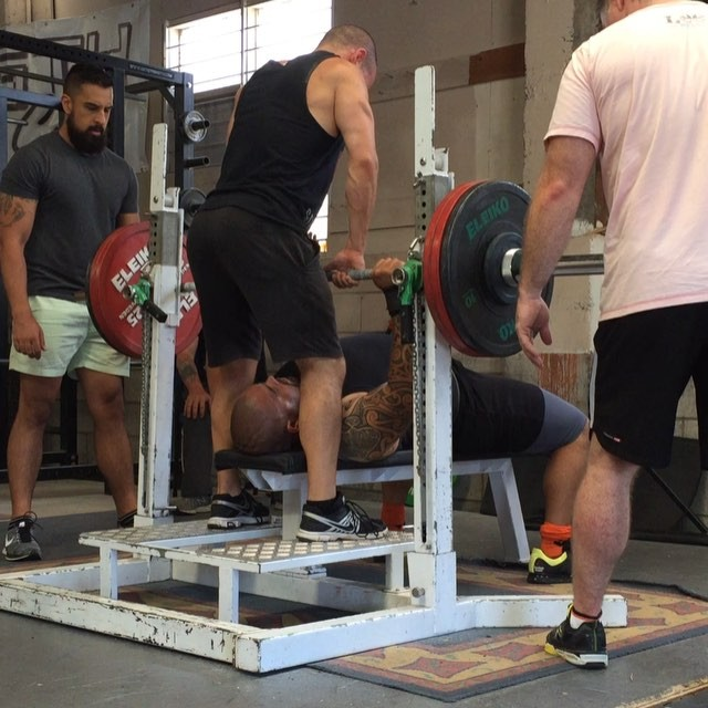 @beez1006 with a big 150kg 3rd attempt