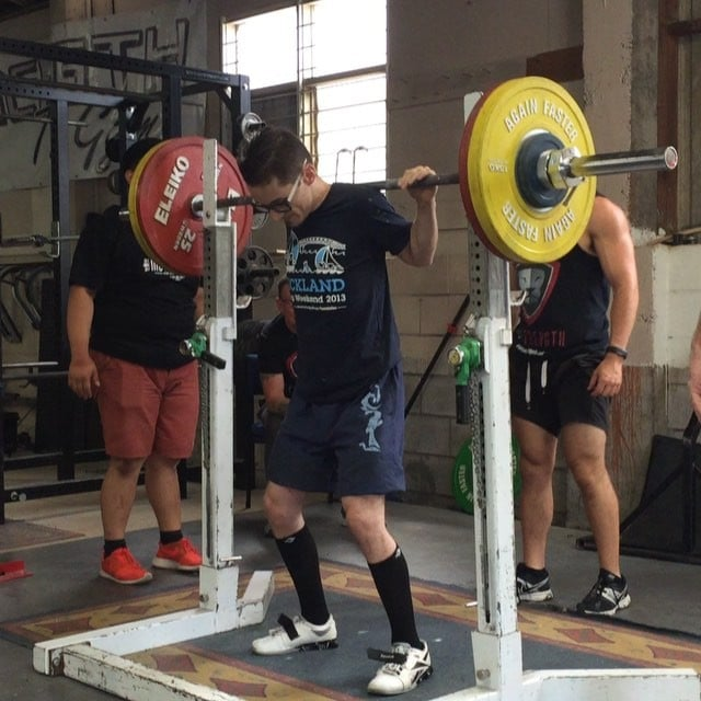@dannydillen with a new squat PR of 110kg! New milestone of 2x bw