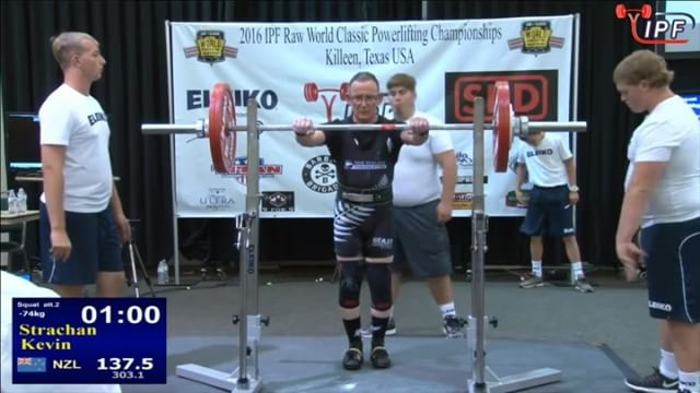 @kpstrachan 2nd attempt squat with 137.5kg, no problems there.