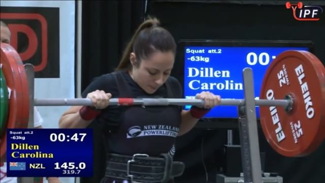 @carli_dillen fights through her 2nd attempt of 145kg.