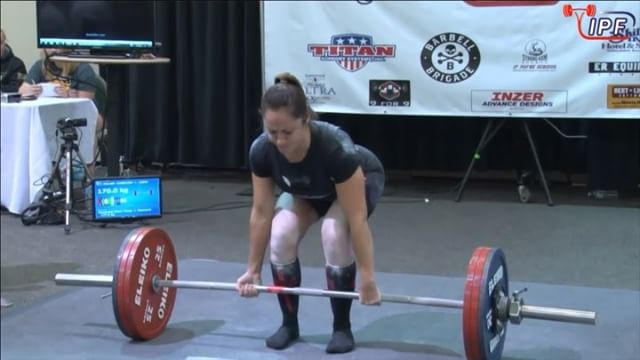 @carli_dillen stands up with 170kg which is an equal PB to her best lift back at provincials. Unfortunately she gets 3 blues for resting on the thighs. Harsh call? Regardless we are all very proud of her! She finishes off with a 387.5kg total, 417.57 wilks and 11th place.