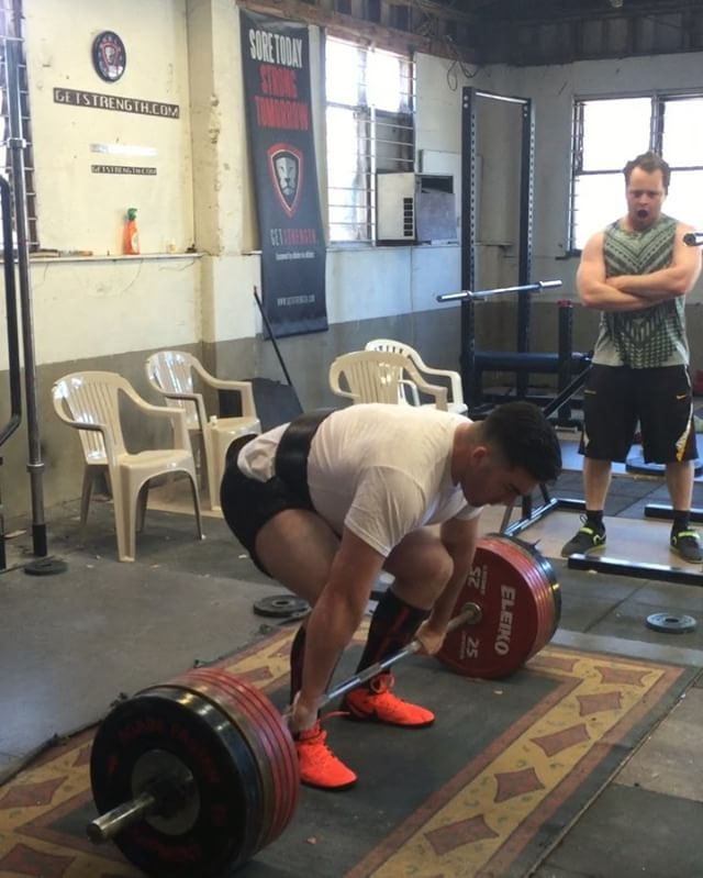 Lifter spotlight - @cnjfleet becomes the first junior Getstrength lifter to pull 300kg! Callum will be representing team NZ at the Asia/Oceania Championships in December in the 120kg junior class.