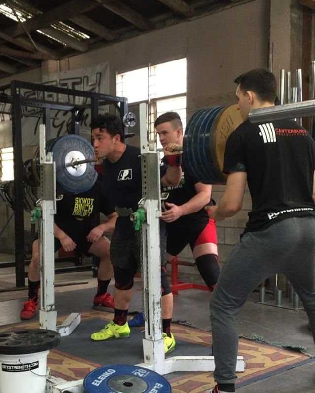 @joshtukua makes an appearance this morning and makes quick work of a 255kg squat at only 83kg bodyweight! You could almost say hes the bomb @joshtukua makes an appearance this morning and makes quick work15035573 687443281437049 9107397702135578624 n