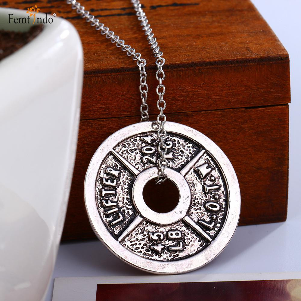 Cast Olympic Plate Pendant and Chain *Limited Supply*