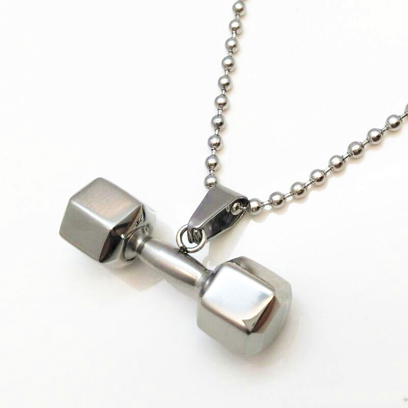 Hex Dumbbell Pendant and Necklace