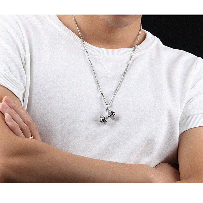 Hanging Dumbbell Pendant and Chain