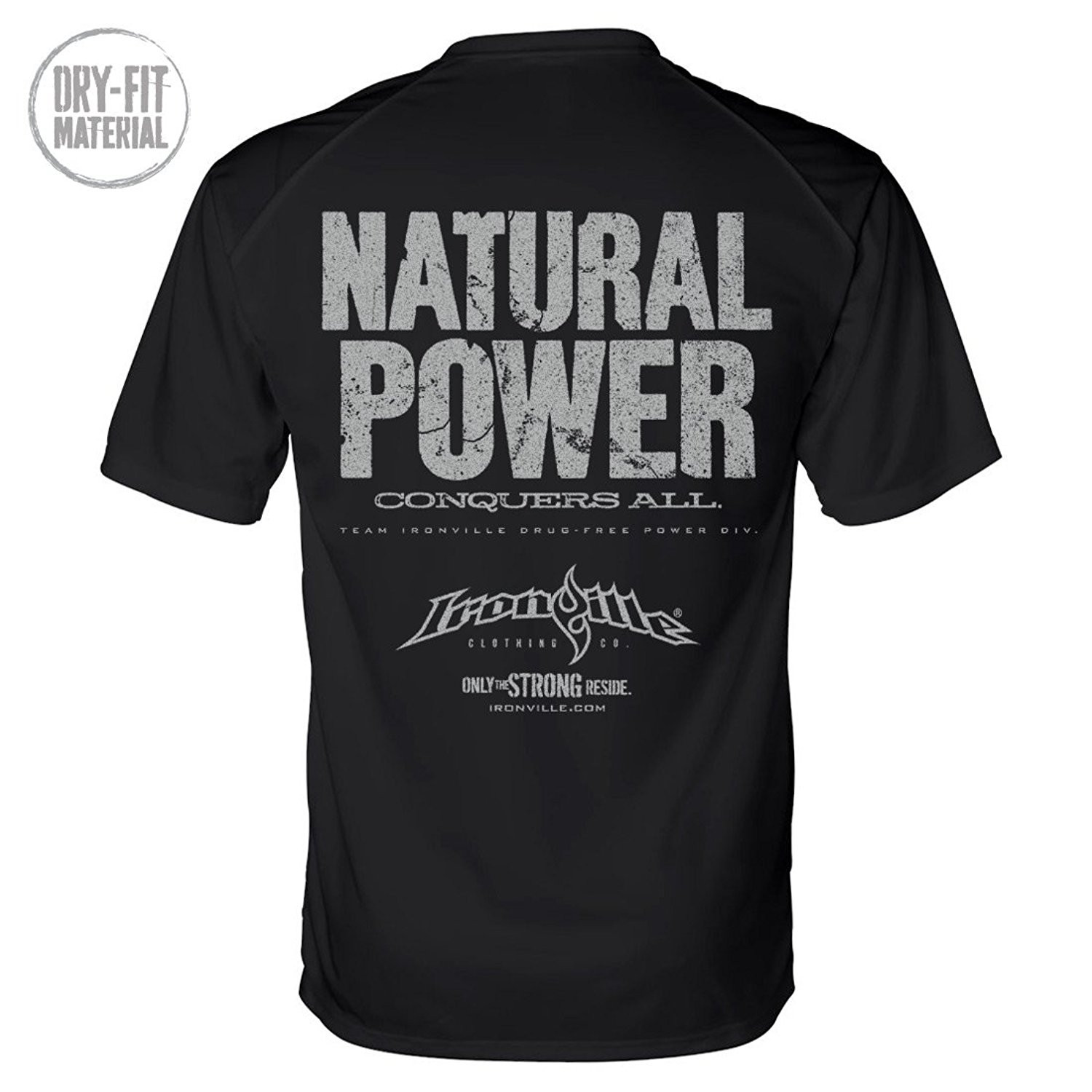 Natural Power Conquers All Drug Free Mens-Tshirt