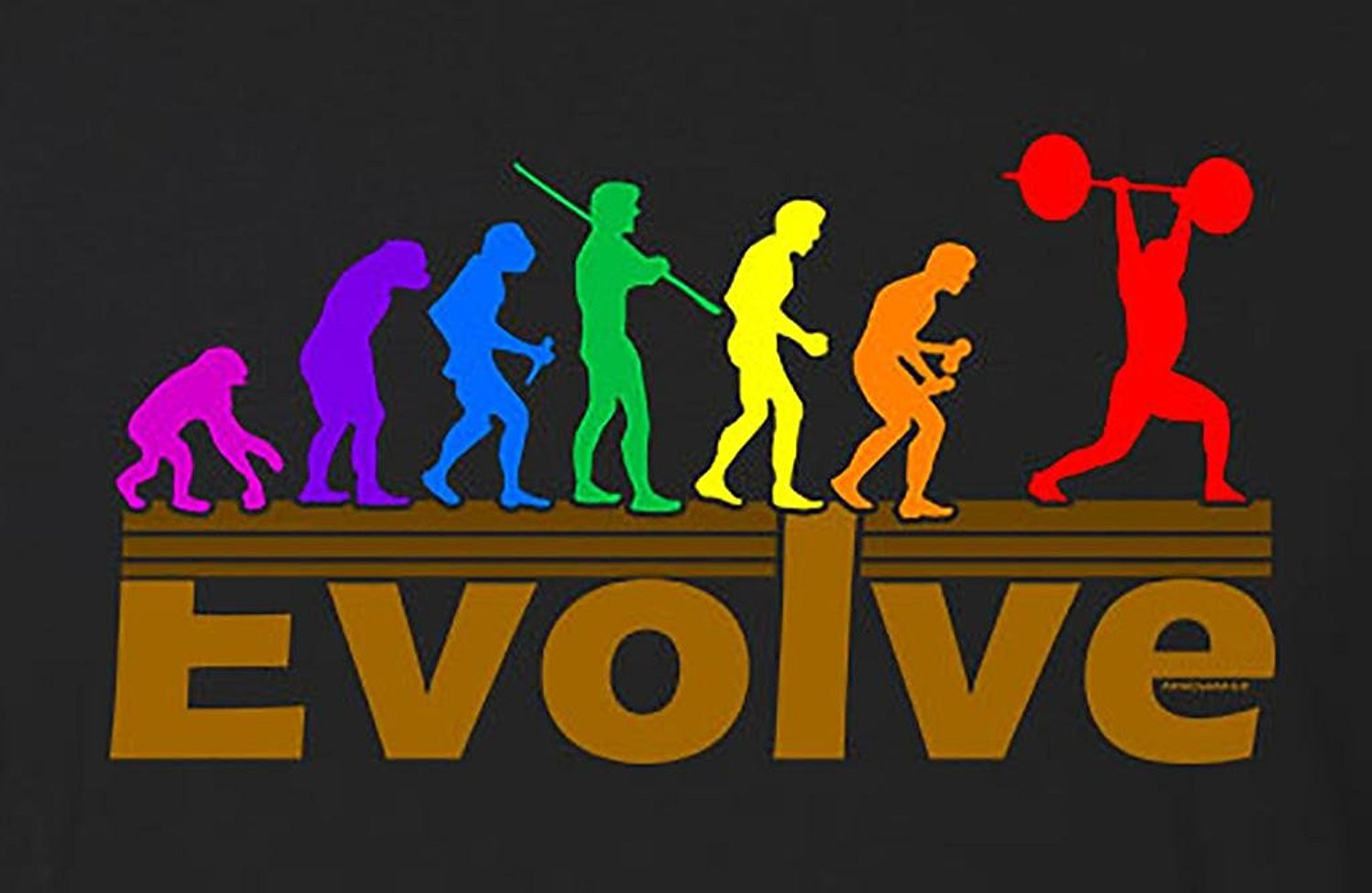Mens t shirt  Evolve Weightlifting Mens T-Shirt