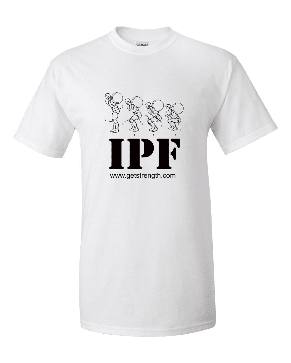 IPF Powerlifting Training T-Shirt White - Light