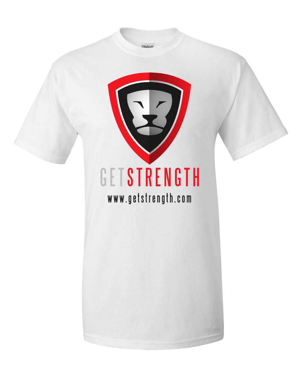 Getstrength T-Shirt (White) - Light