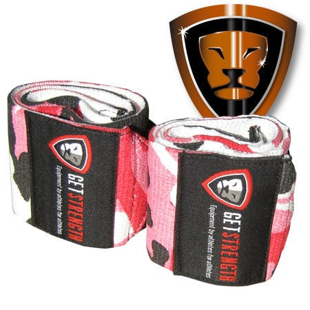 Urban Camo Pink Heavy Wrist Wraps (pair)