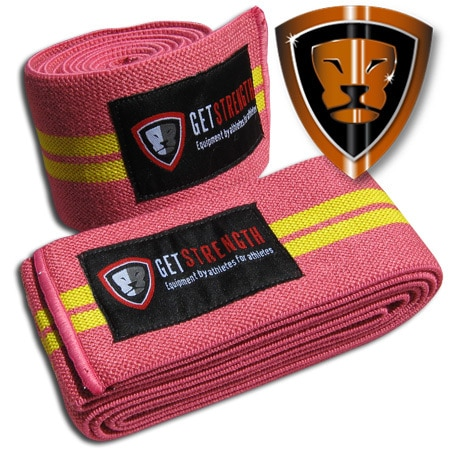 GS Pink Knee Wraps 2 M (pair)